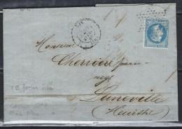Paris, Cachet N° 1340 Avec étoile Pleine Sur Facture Illustrée Du 20/4/1869 - Marcophilie (Lettres)
