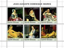 gb3426 Guinea Bissau 2003 Paintings of Ingres s/s Nude Michel: 2543-2548