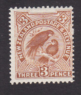 New Zealand, Scott #126, Mint Hinged, Huia, Sacred Birds, Issued 1907 - 1855-1907 Crown Colony