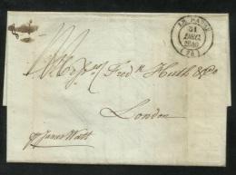 1840 LAC LE HAVRE A LONDON - SHIP LETTER - Marcophilie (Lettres)