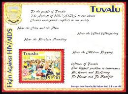 Tuvalu Scott   952 Fight Against AIDS HIV Souvenir Sht Mint NH - Tuvalu