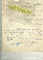 51 - Marne - SOMME-SUIPPE - Facture LEMONNIER - Mécanique Générale - 1924 - France