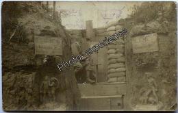 CPA Carte Photo Guerre 14-18 Militaire Allemand Art Tranchée German Trench WW1 LA CHAVATTE Somme 80 - France