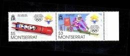 Montserrat Olympics Lake Placid 1980 Setenant Pair MNH - Montserrat