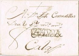 6705. Carta Entera Pre Filatelica LERIDA 1783 - ...-1850 Voorfilatelie