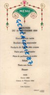 87 - LIMOGES - MENU CARTONNE RESTAURANT TRAITEUR GRELET - 12 NOVEMBRE 1930 - Menus