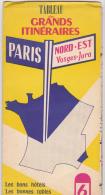 Tableau Des Grands Itinaires Nord-Est Vosges- Jura  N° 6 - Cartes Routières