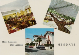 HENDAYE HOTEL RESTAURANT DES ALLEES CPSM GF BE - Hendaye