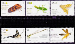 Hong Kong Insects Series II Mint NH Set Of 6 - 1997-... Chinese Admnistrative Region
