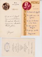 3 MENUS ANNEES 1926-1938-1942  TB - Menú