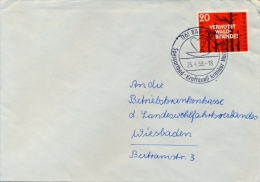 Germany BRD 1958 Cover With 20 Pf. Prevent Forest Fires With Special Cancel Heart Diseases - Malattie