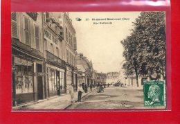 SAINT AMAND MONTROND 1926 RUE NATIONALE COIFFEUR CARTE EN BON ETAT - Saint-Amand-Montrond