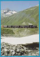 Dampfbahn Furka Bergstrecke Muttbach Belvédère Mit Gärstenhörner (Furka Oberalp) - Bahn Train Railway - Eisenbahnen