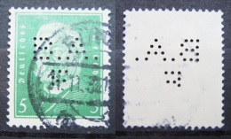 Dt. Reich Marke - Perfin - Firmenlochung - Gestempelt            (Z21) - Gebraucht