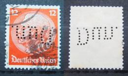 Dt. Reich Marke - Perfin - Firmenlochung - Gestempelt            (Z22) - Gebraucht