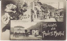 Valle D'Aosta -Pont Saint Martin -Saluti Da Con Stazione Ferroviaria - Otras Ciudades