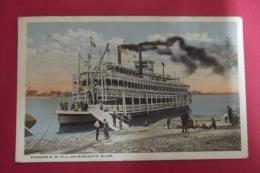 Cp  Moline Steamer G W Hill On Mississippi River - Etats-Unis