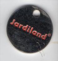 Jeton  De  Caddie  Argenté  Jardiland  Verso  1 € - Einkaufswagen-Chips (EKW)