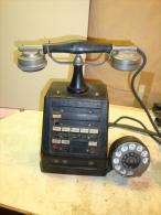 ANTIQUE TELEPHONE APPARATUS MADE BY AKTIESELSKAPET ELEKTRISK BUREAU - Telefontechnik