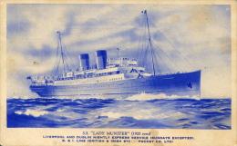 AK S.S. Lady Munster Ca. 1920 (?) SS Dampfer Schnelldampfer Schiff Steamer Ship British & Irish Packet Co. Ltd. - Paquebots