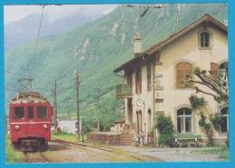 Ferrovia Mesolcinese Motrice BDe 4/4 491 (RhB) A San Vittore   - Bahn Train Railway - Trains