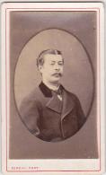 CDV - Homme ( Antony Poirier, Père De René ) - Maison Rideau - Cherbourg - Fin 1800 - Début 1900 - Personnes Identifiées
