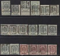 Belgique Préoblitérés Lot De Roulettes 1895-1906 - Precancels