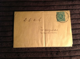 East Africa And Uganda Postal Stationery Wrapper 3c MOMBASA 1911 > Zanzibar (entier Postal Ganzsache) - Protectorados De África Oriental Y Uganda