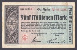 BONN 5 MILLION DE MARK 18 AOUT 1923 - [11] Emisiones Locales