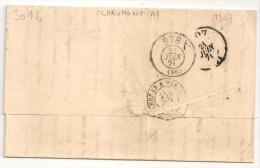 DEUX PASSE 978 Et 1307 Au Verso Lettre Napoléon BEAUNE Cote D ' Or. - Correo Ferroviario