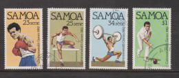 Samoa 1982 Commonwealth Games Set 4 FU Sport - Samoa