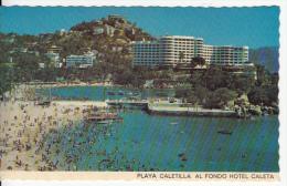 Mexico - Hotel Caleta - Playa Caletilla - 1978 - Stamps - VG Condition - 2 Scans - Mexico
