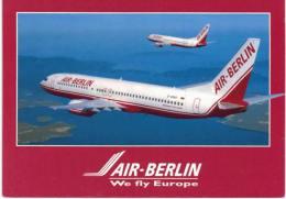 Thème -Transport -  Avion - Air Berlin Boeing 737-800 - 2 Avions En Vol - 1946-....: Moderne
