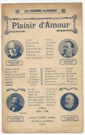 Partition, Plaisir D'Amour, Edition Marcel Labbé, Frais Fr:1.60€ - Partitions Musicales Anciennes