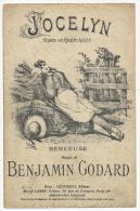 Partition, JOCELYN, Opéra En Qutre Actes, Musique Benjamin Godard, Frais Fr:1.60€ - Partitions Musicales Anciennes