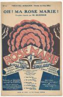Partition, Oh! Ma Rose Marie !, Couplets Chantés Par M.Burnier, Editions Francis Salabert, Frais Fr:1.60€ - Partitions Musicales Anciennes