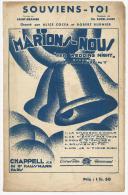 Partition, Souviens- Toi, Marions Nous, Opérette Paramount, Frais Fr:1.60€ - Partitions Musicales Anciennes