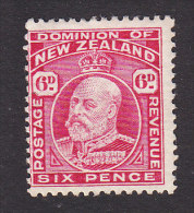 New Zealand, Scott #137, Mint Hinged, King Edward VII, Issued 1909 - Unused Stamps