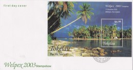 Tokelau 2004 Pacific Secre - Welpex Stamp Show, Wellington, NZ MS FDC - Tokelau