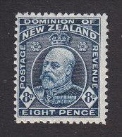New Zealand, Scott #138, Mint Hinged, King Edward VII, Issued 1909 - 1907-1947 Dominion