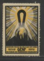 SWITZERLAND 1929 GENEVA EDUCATIONAL ASSOCIATIONS EXHIBITION & SHOW NHM POSTER STAMP CINDERELLA ERINOPHILATELIE - Nuevos