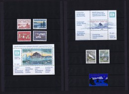 1987 Issues In Greenland Post Folder  Complete, All MNH - Unused Stamps