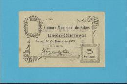 SILVES - ESCASSA - CÉDULA De 5 CENTAVOS - M.A. 2131 - 14.03.1921 - PORTUGAL - EMERGENCY PAPER MONEY - NOTGELD - Portugal