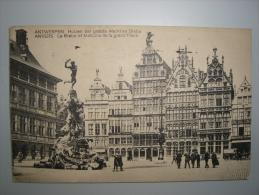 ANTWERPEN - ANVERS - HUYZEN DER GROOTE MARKT BRABO - ANIMEE - CIRC 1923 - ANV10 - Antwerpen
