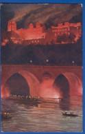 Deutschland; Heidelberg; Schloss Bei Nacht; Künstlerkarte Von H. Kley; 1914 - Heidelberg