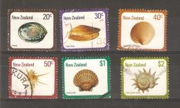 NEW ZEALAND - 1978 SEA SHELLS SET OF 6 USED  SG  1099-104  Sc 674-9 - New Zealand