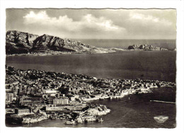 13 Marseille En 1962 N°3A Très Belle Vue Aérienne La Corniche Malmousque - Endoume, Roucas, Corniche, Plages