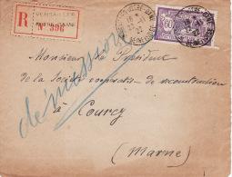 K25 Facade  Enveloppe RECOMMANDE  Cachet De VERSAILLES  En 1922 De Versailles A COURCY (marne) - France