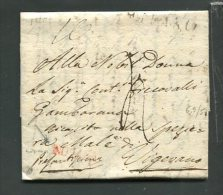 1820  RARA  PREFILATELICA DA  MILANO  X  VIGEVANO   TRANSITO NOVARA     INTERESSANTE DOCUMENTO STORICO - 1. ...-1850 Prefilatelia