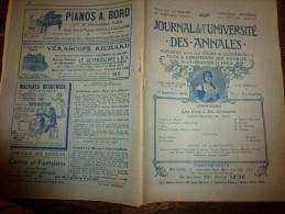 1909 Journal De L´Université Des Annales: La Chanson Napoléoniènne; Les Bohémiens, Tziganes; La Romanichelle.. - Periódicos